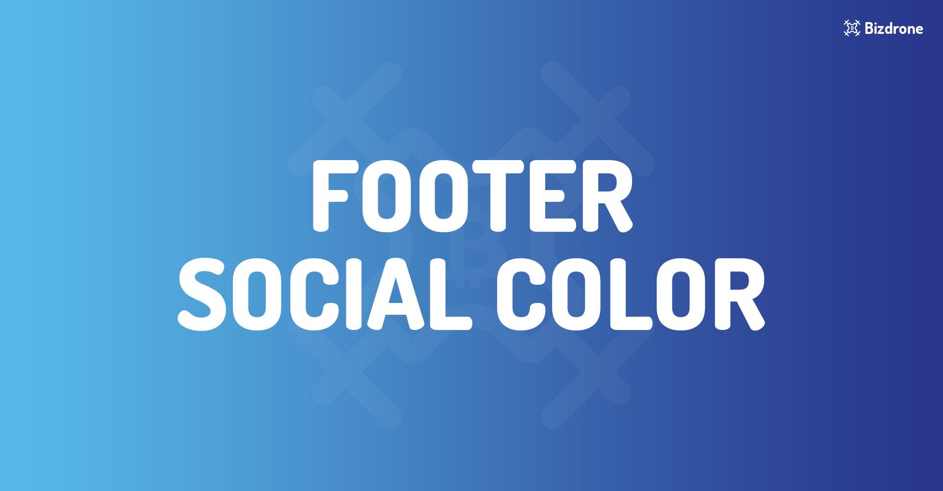 Footer Social color