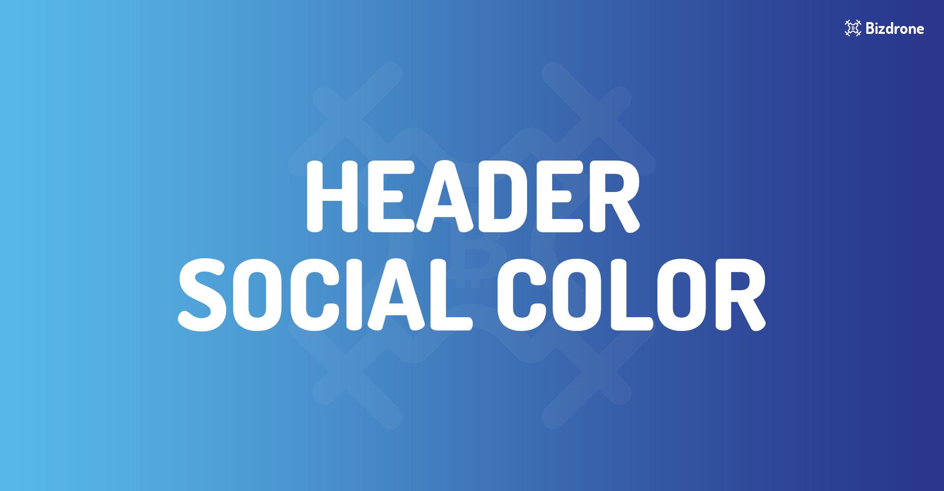 Header social color