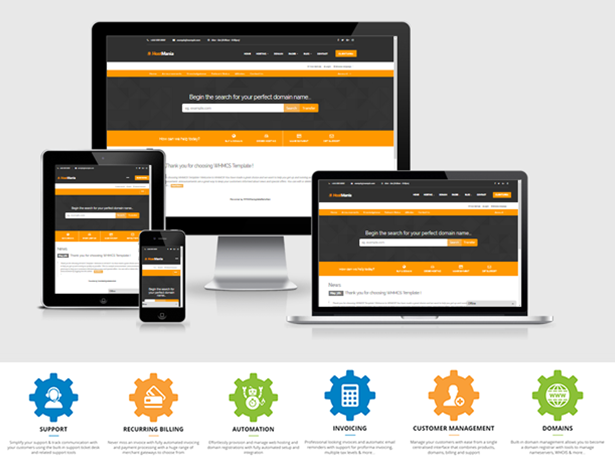 HostMania | Material Design Web Hosting With WHMCS Templates