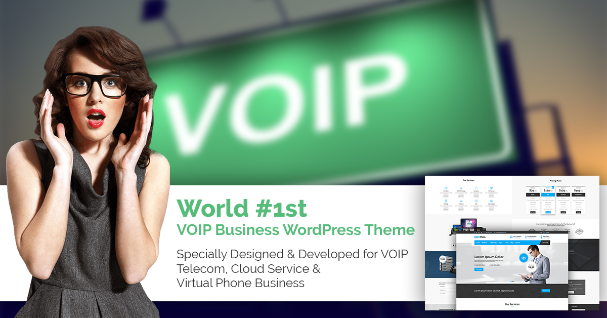 VOIP WordPress Themes & Responsive Templates