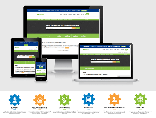 Technology, Web Hosting and WHMCS Templates   ThemeLooks
