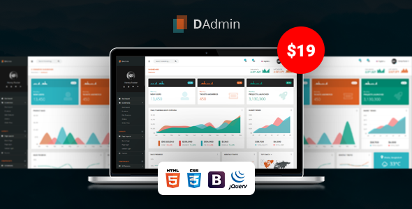 Responsive Bootstrap Admin Dashboard Template
