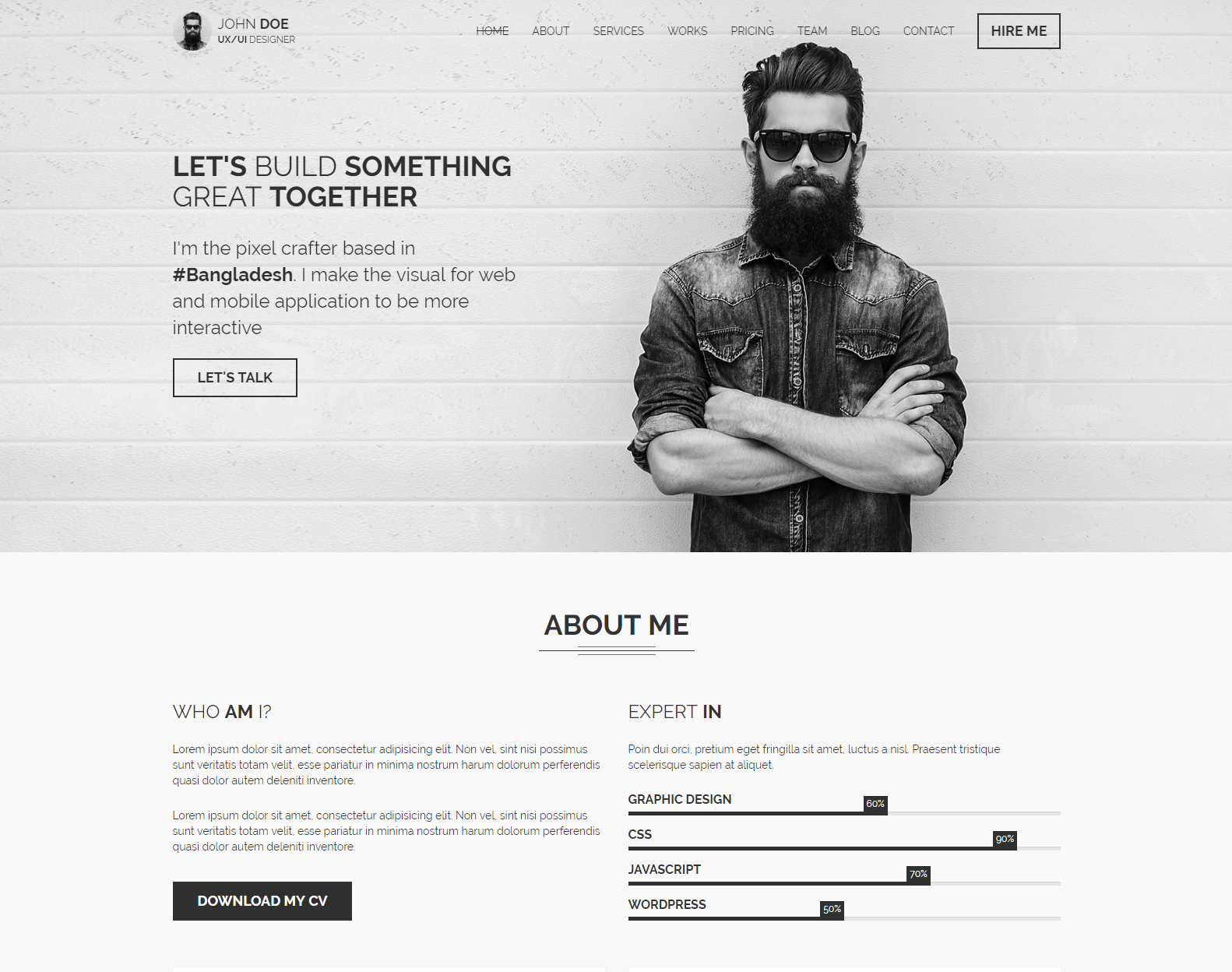WordPress Theme for Personal Purposes