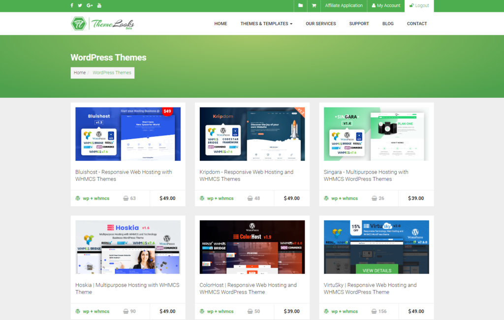 Best WHMCS Theme for Web Hosting company