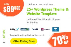 70 off wordpress theme